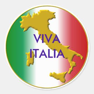 viva italia classic round sticker
