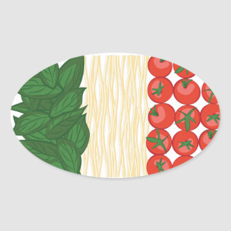 Viva Italia Oval Sticker