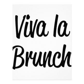 Viva La Brunch Letterhead