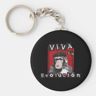 Viva la Evolucion Ape Keychain