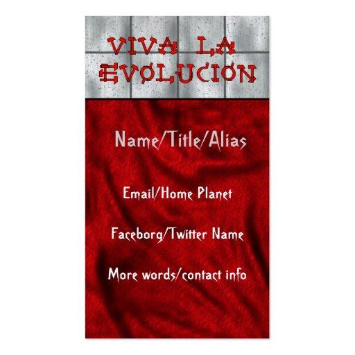 Viva La Evolucion Business Cards