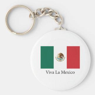 Viva la Mexico Basic Round Button Keychain