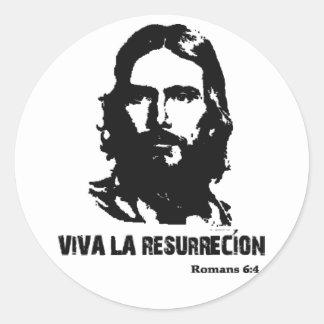 Viva La Resurrecion Classic Round Sticker