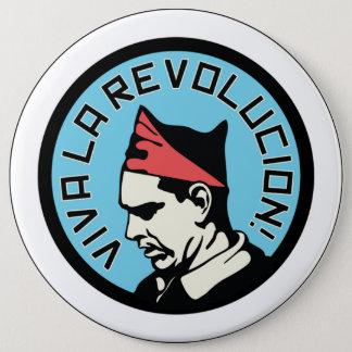 Viva la revolucion 6 inch round button