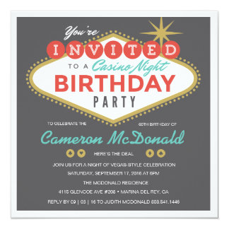 Viva Las Vegas Birthday Invitation