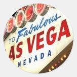 Viva Las Vegas Round Stickers