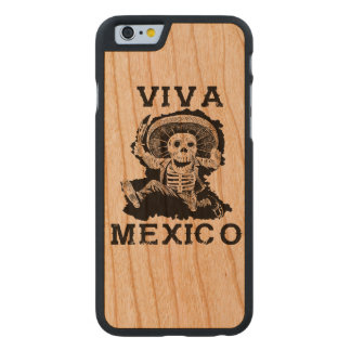 Viva Mexico Day of the Dead Skull Carved Cherry iPhone 6 Case