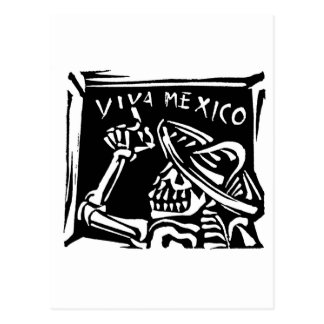 "Viva Mexico- Mexico's ""Day of the Dead"" Postcard"