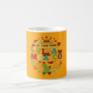 Viva Mexico with traditional mexico elements mugs
