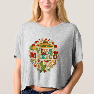 Viva Mexico with traditional mexico elements shirt