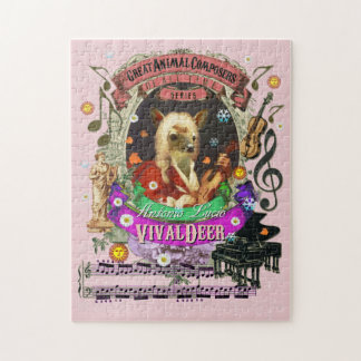 Vivaldeer Great Animal Composer Vivaldi Parody Jigsaw Puzzle