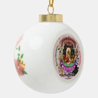 Vivaldeer Vivaldi Deer Ceramic Ball Christmas Ornament