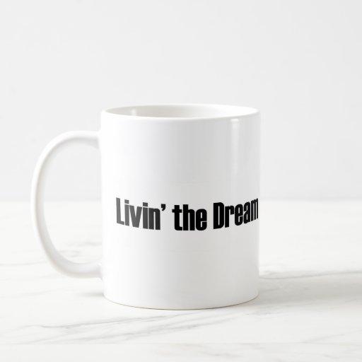 Vivant le rêve mug blanc