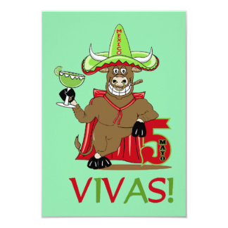 VIVAS ! Invitations de partie de Cinco De Mayo