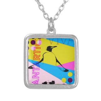 Vive Antartica Penguins Silver Plated Necklace