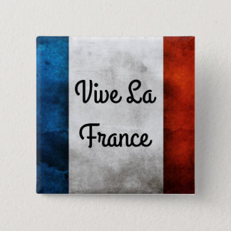 Vive La France Badge 2 Inch Square Button