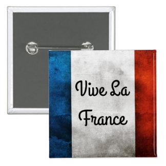 Vive La France Badge 2 Inch Square Button