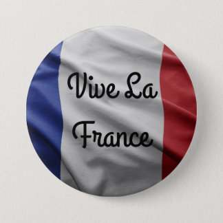 Vive La France Badge 3 Inch Round Button