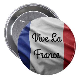 Vive La France Badge 3 Inch Round Button