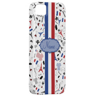 Vive la France- famous items with flag iPhone 5 Covers