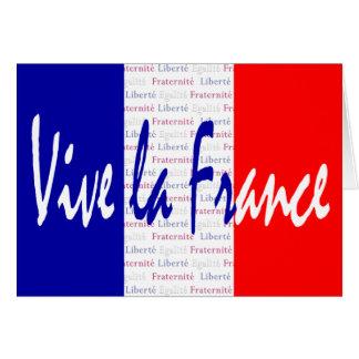 Vive la France - Liberté, Égalité, Fraternité Card