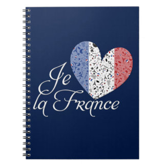 Vive la France Spiral Notebook