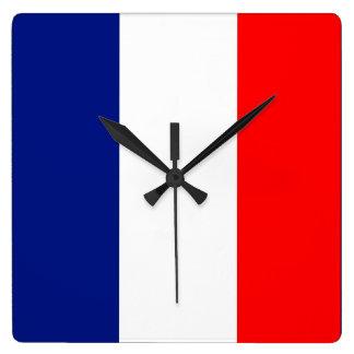 VIVE LA FRANCE tricolor STRIPE20 Square Wall Clock