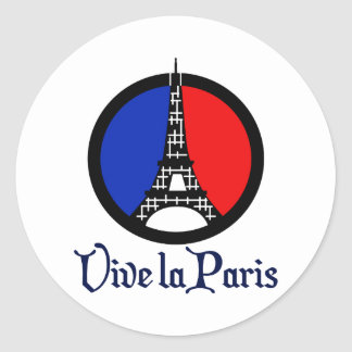 Vive La Paris Classic Round Sticker