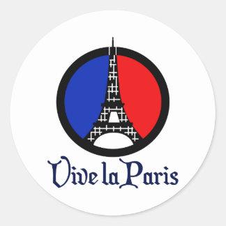 Vive La Paris Round Sticker