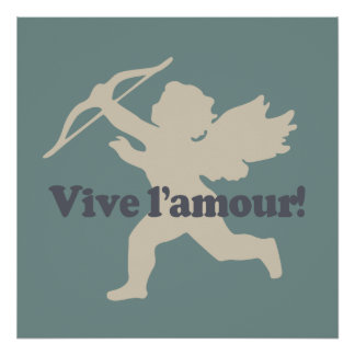 Vive L'amour Cupid poster