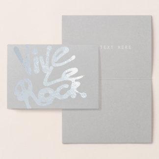 VIVE LE ROCK - Vintage 70s 80s punk rock slogan Foil Card
