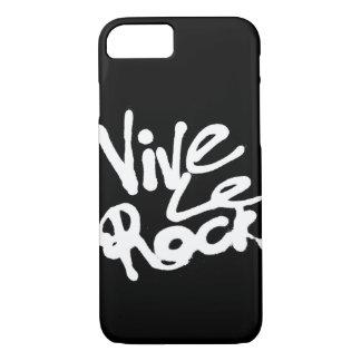 VIVE LE ROCK - Vintage 70s 80s punk rock slogan iPhone 8/7 Case
