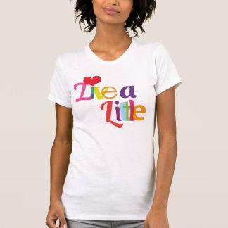 Vivent un peu de T-shirt de filles de typographie