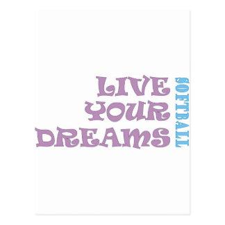 Vivent vos rêves du base-ball cartes postales