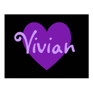 Vivian in Purple Postcard