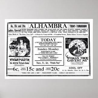 Vivian Martin 1919 vintage movie ad poster