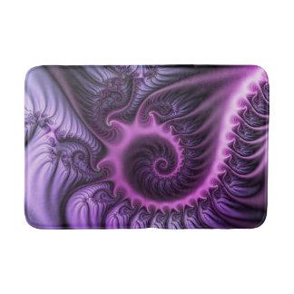 Vivid Abstract Cool Pink Purple Fractal Art Spiral Bath Mat