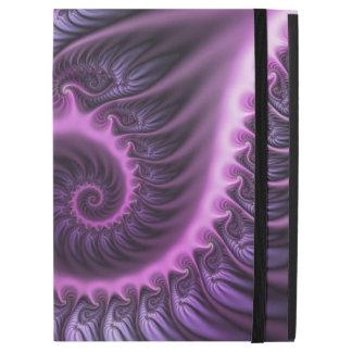"Vivid Abstract Cool Pink Purple Fractal Art Spiral iPad Pro 12.9"" Case"