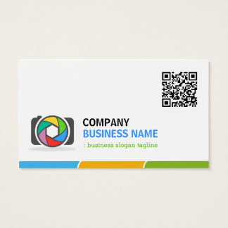 Vivid and Colorful Photography with QR Code Business Card