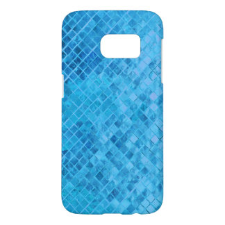 vivid aqua diamond metallic tile samsung galaxy s7 case