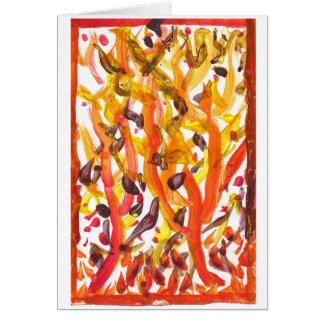 Vivid autumn trees note card