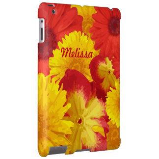 Vivid Cheerful Red Daisies Yellow Chrysanthemums