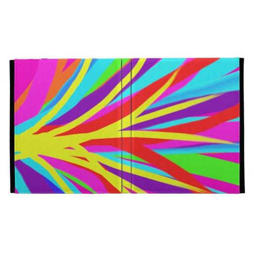 Vivid Colorful Paint Brush Strokes Girly Art iPad Folio Covers