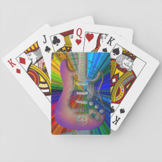 Vivid Colors Peace Guitar Playing Cards