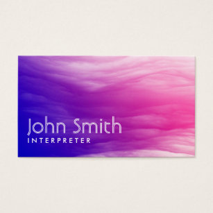 Vivid colourful clouds interpreter business card vivid colourful clouds interpreter business card reheart Gallery