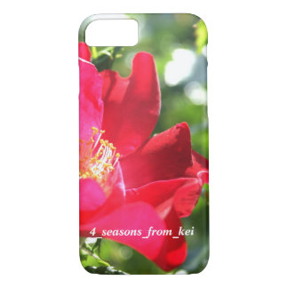 Vivid deep-red rose* Version 2☆ iPhone 8/7 Case