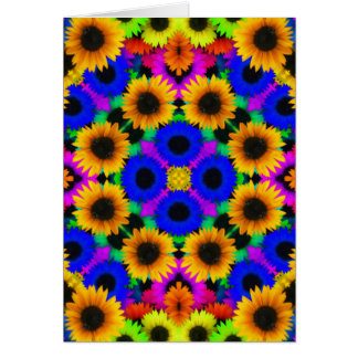 Vivid Floral Pattern Card