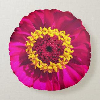 Vivid Flowers Round Pillow