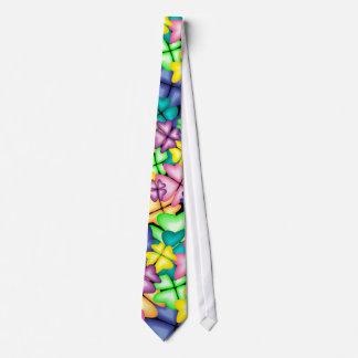 vivid flowers tie