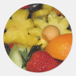 Vivid Fruit Classic Round Sticker